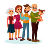 Happy family logo with father and mother Royalty Free Stock Images