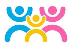 Happy family logo Stock Image