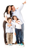 Happy family looking away Royalty Free Stock Photography