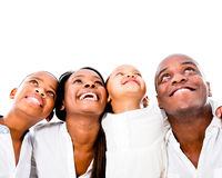 Happy family looking up Royalty Free Stock Images