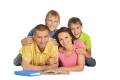 Happy family lying Royalty Free Stock Photos