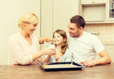 Happy family making cookies at home Royalty Free Stock Image