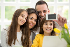 Happy family making self portrait Royalty Free Stock Photo