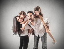 A happy family Royalty Free Stock Photo