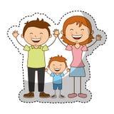 Happy family members icon Stock Image
