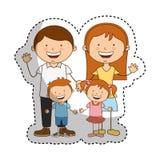 Happy family members icon Stock Photography
