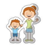 Happy family members icon Royalty Free Stock Photography
