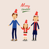 Happy family for merry christmas Stock Photo