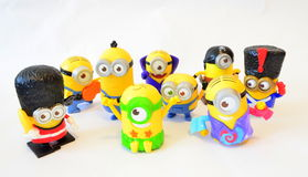 Happy family minion toys- Kevin and Dave Stock Images