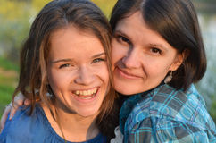 Happy family. Happy moments between a mother and her daughter Royalty Free Stock Photo