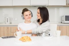 Happy family in the morning Royalty Free Stock Photo