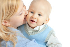Happy family - mother and baby Royalty Free Stock Photos