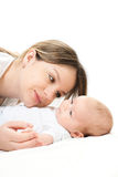 Happy family - mother and baby Stock Image