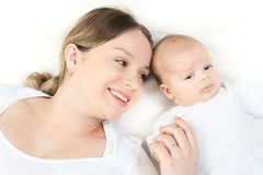 Happy family - mother and baby Stock Photography