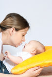 Happy family - mother and baby Royalty Free Stock Photo