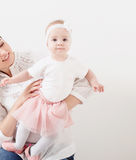 Happy family mother and baby daughter Stock Image