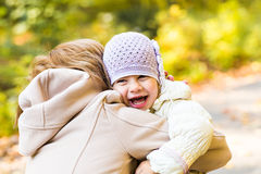Happy family: mother and child little daughter Royalty Free Stock Photo