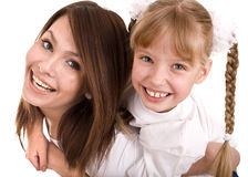 Happy family mother and daughter. Stock Image