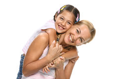 Happy family - mother and daughter Stock Photo