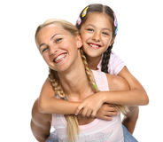 Happy family - mother and daughter Royalty Free Stock Photography