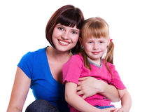 Happy family -  mother and daughter Stock Photography