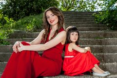 Happy family. Mother with daughter. Royalty Free Stock Photos