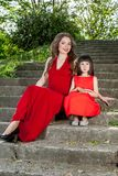 Happy family. Mother with daughter. Royalty Free Stock Photography