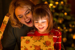 Happy family - mother and daughter child  open Royalty Free Stock Photo