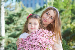 Happy family, mother and daughter. Royalty Free Stock Photo
