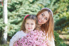 Happy family, mother and daughter. Royalty Free Stock Images