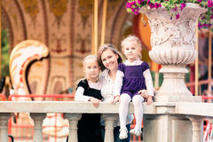 Happy family: mother with daughters Stock Photography