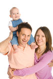 Happy family mother, father and baby boy Royalty Free Stock Image