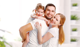 Free Happy Family Mother, Father, Child At Home Stock Photos - 67972703