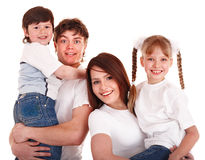 Happy family mother, father and children. Stock Photo