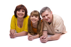 Happy family. Mother, father and daughter stock image