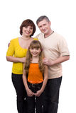Happy family. Mother, father and daughter stock photo