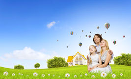 Happy family Stock Photo