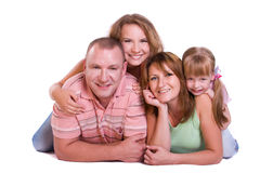 Happy family. Mother, father and two daughters Stock Image