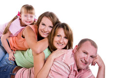 Happy family. Mother, father and two daughters Royalty Free Stock Photos