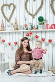 Happy family. Mother and her baby son Stock Photography