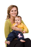 Happy family -  mother and little daughter Stock Images