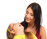 Happy family mother playing with her daughter Stock Photography