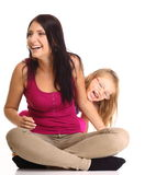 Happy family mother playing with her daughter Royalty Free Stock Photos