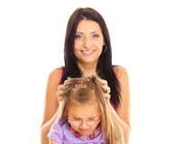 Happy family mother playing with her daughter Royalty Free Stock Photography