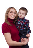 Happy family -  mother and son Royalty Free Stock Images