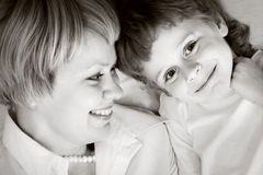 Happy family - mother and son Royalty Free Stock Image