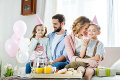 Happy family at Mothers day Stock Photography