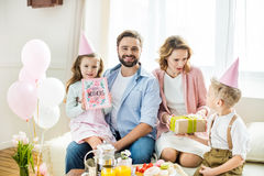 Happy family at Mothers day Royalty Free Stock Photos