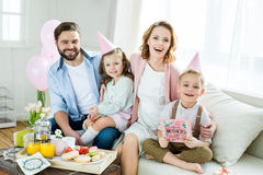 Happy family at Mothers day Stock Image