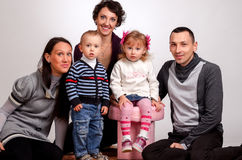 Happy family. Mothers women and kids little girl and boys sittin Royalty Free Stock Photography